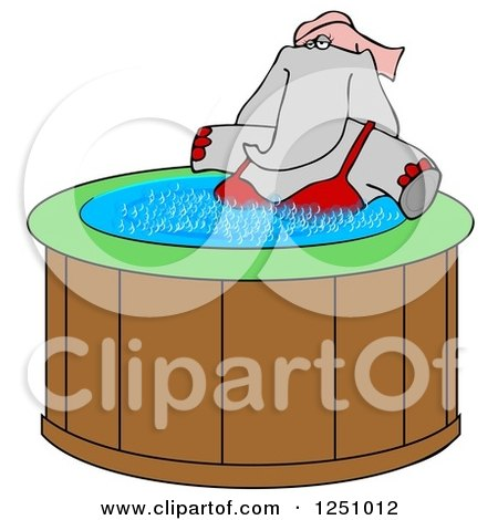 Royalty Free Rf Hot Tub Clipart Illustrations Vector
