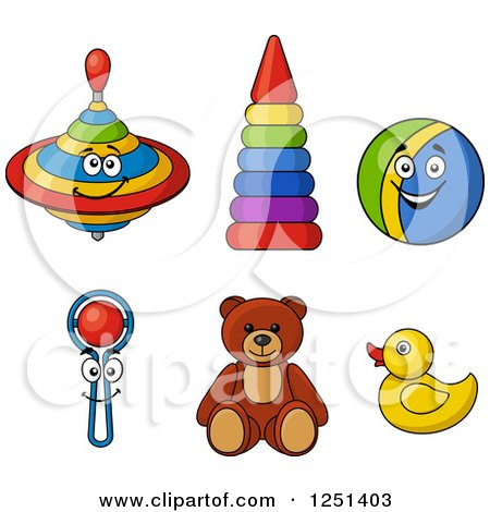 Clipart of Baby Toys - Royalty Free Vector Illustration by Vector Tradition SM