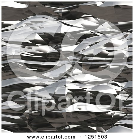 Clipart of a Seamless Abstract Wrinkled Aluminum Foil Texture - Royalty Free Illustration by Arena Creative