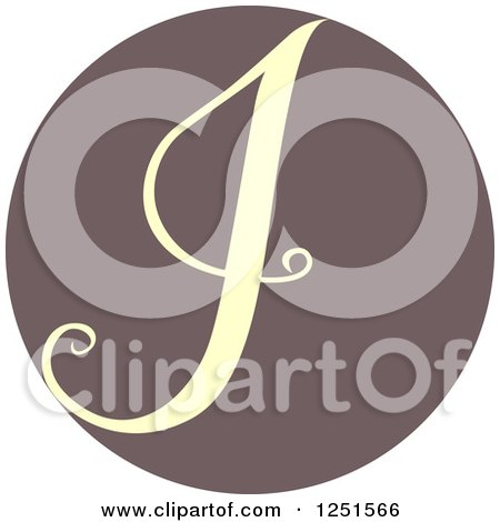 Clipart of a Circle with Capital Letter I - Royalty Free Vector Illustration by BNP Design Studio
