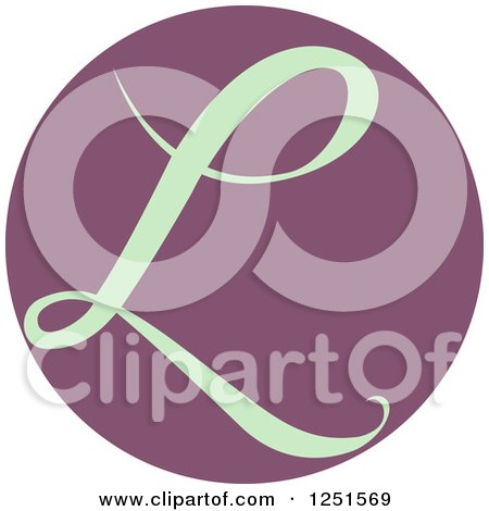 Clipart of a Round Purple Circle with Capital Letter L - Royalty Free Vector Illustration by BNP Design Studio