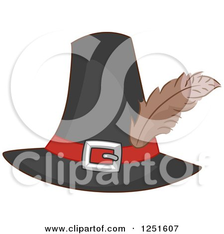 Clipart of a Pilgrim Hat - Royalty Free Vector Illustration by BNP Design Studio