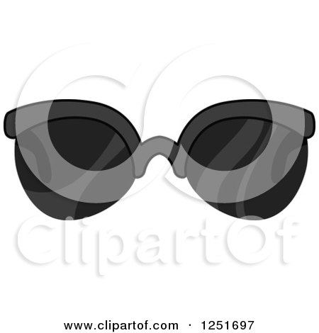 Clipart of Men's Sunglasses - Royalty Free Vector Illustration by BNP Design Studio