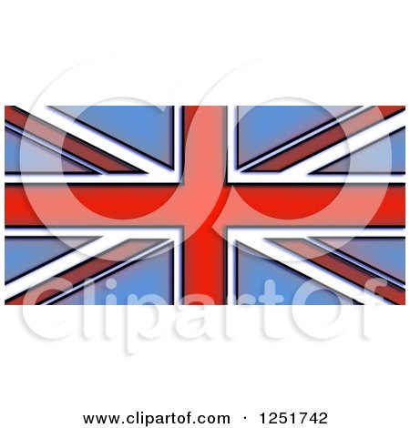 Clipart of a Stained Glass Union Jack Flag - Royalty Free Illustration by Prawny