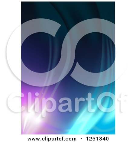 Clipart of a Colorful Background of Lights - Royalty Free Vector Illustration by dero