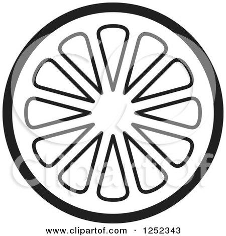 Lemon Slice Clip Art Black And White | www.pixshark.com ...