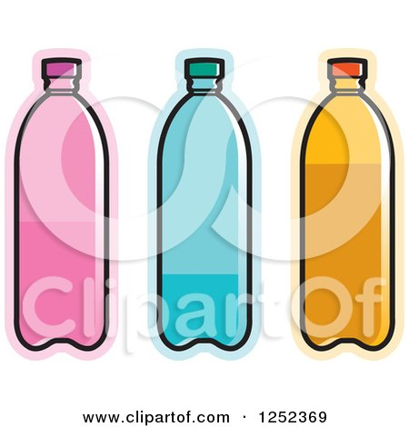 clipart of a silver water bottle royalty free vector illustration rh clipartof com  free bottled water clip art