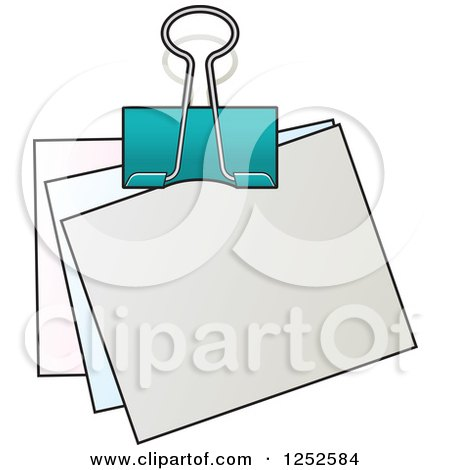 Clipart of a Binder Clip and Notes - Royalty Free Vector ...Binder Clip Dinosaur