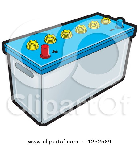 Clipart of a Battery - Royalty Free Vector Illustration by Lal Perera