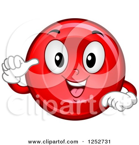 Clipart of a Happy Red Blood Cell Character - Royalty Free Vector Illustration by BNP Design Studio