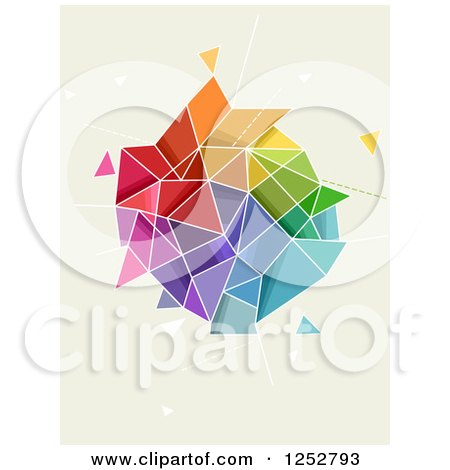 Clipart of a Colorful Abstract Geometric Shape - Royalty Free Vector Illustration by BNP Design Studio