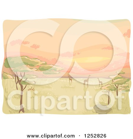 Clipart Cactus And Desert Frame With A Bird On A Cloud