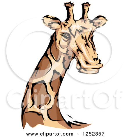 Clipart of a Majestic Giraffe - Royalty Free Vector Illustration by BNP Design Studio