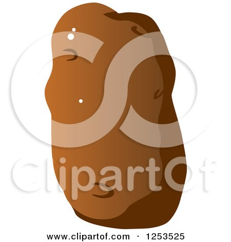 Clipart of a Potato - Royalty Free Vector Illustration by Vector Tradition SM
