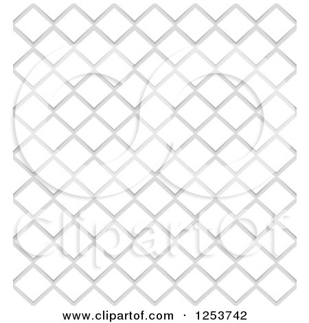 Clipart of a Seamless Background of White Notes on Gray - Royalty Free Vector Illustration by vectorace