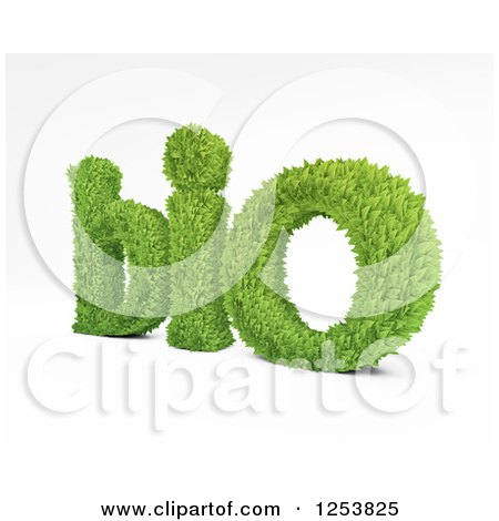 Clipart of 3d Leafy Bio Text on White - Royalty Free Illustration by Mopic