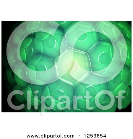 Clipart of a 3d Green Plant Cell Background - Royalty Free Illustration by Mopic