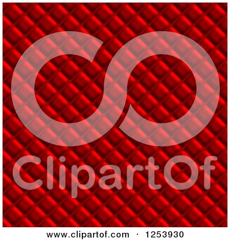 Clipart of a Seamless Red Upholstery Background - Royalty Free Illustration by Arena Creative