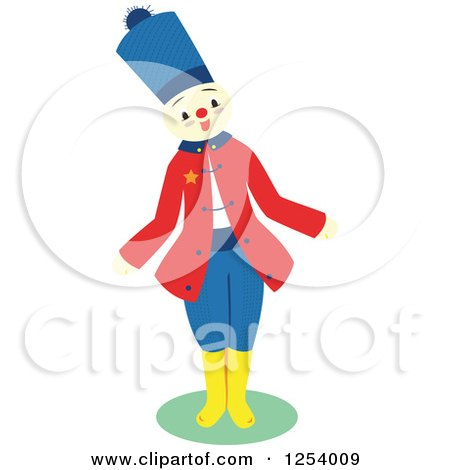 Clipart of a Happy Patriot Soldier - Royalty Free Vector Illustration by Cherie Reve
