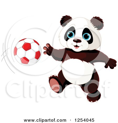 Giant Panda Swimming Royalty-Free Vector Cl...