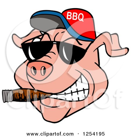 Royalty-Free (RF) Bbq Pig Clipart, Illustrations, Vector Graphics #1