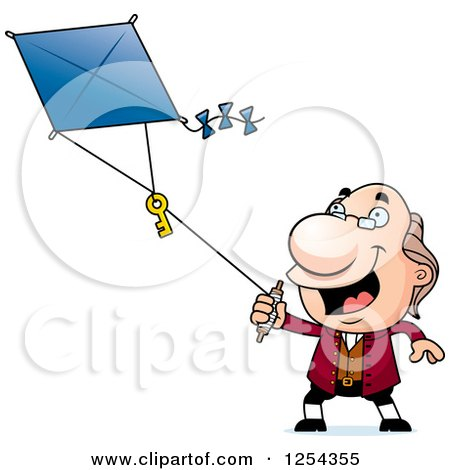 Benjamin Franklin Flying a Kite Posters, Art Prints