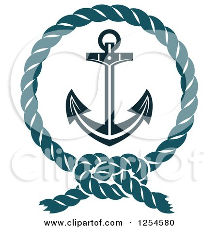 clipart of an anchor in a rope frame royalty free vector rh clipartof com Anchor with Chain Clip Art ship anchor with rope clipart