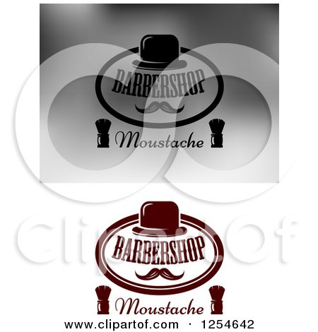 Clipart of Barbershop Moustache Designs - Royalty Free Vector Illustration by Vector Tradition SM