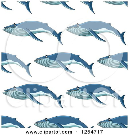 Clipart of a Seamless Pattern Background of Whales - Royalty Free Vector Illustration by Vector Tradition SM