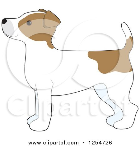 Cartoon of a Cute Jack Russell Terrier Dog in Profile - Royalty Free Vector Clipart by Maria Bell