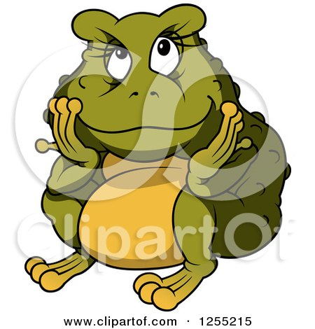 Clipart of a Chubby Female Toad - Royalty Free Vector Illustration by dero