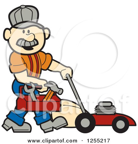Royalty-Free (RF) Lawn Mower Clipart, Illustrations, Vector ...