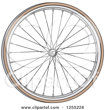 Clipart of a Bicycle Tire - Royalty Free Vector Illustration by Andy Nortnik