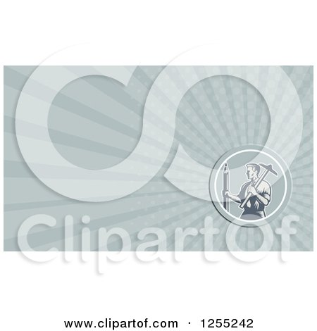 Clipart of a Retro Woodcut Architect Business Card Design - Royalty Free Illustration by patrimonio