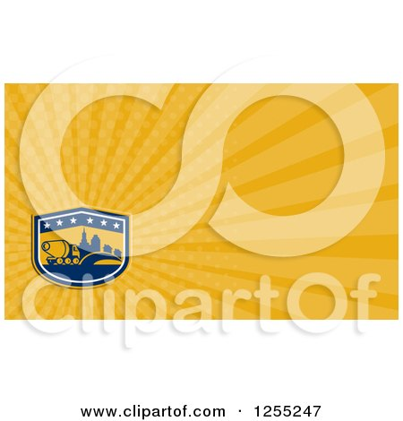 Clipart of a Retro Cement Truck Business Card Design - Royalty Free Illustration by patrimonio