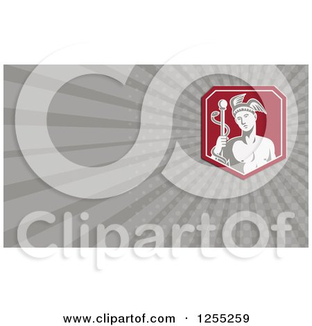 Clipart of a Retro Hermes Business Card Design - Royalty Free Illustration by patrimonio