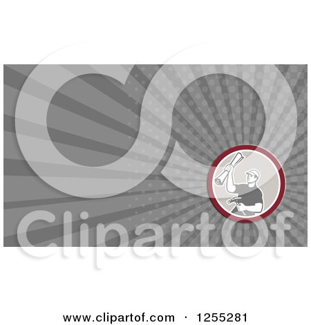 Retro Carpenter Business Card Design Posters, Art Prints