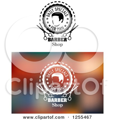 Clipart of Daily Specials Barber Shop Designs - Royalty Free Vector Illustration by Vector Tradition SM