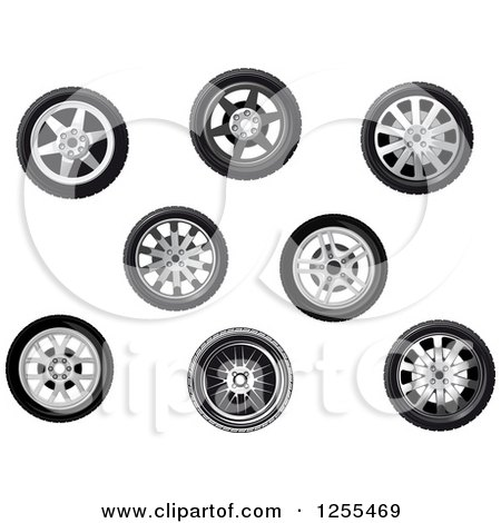 Clipart of Tires - Royalty Free Vector Illustration by Vector Tradition SM