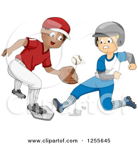 Clipart Happy Baseball Mascot Holding A Bat - Royalty Free ...