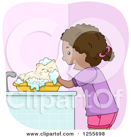 Royalty Free Rf Cat Grooming Clipart Illustrations
