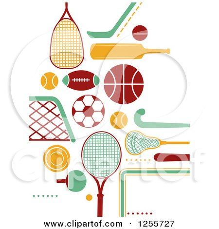 Clipart of Sports Accessories - Royalty Free Vector Illustration by BNP Design Studio