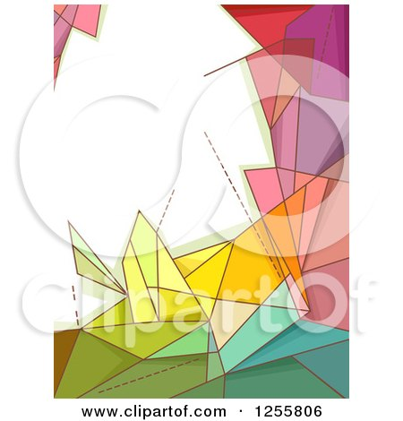Clipart of a Colorful Geometric Background with Text Space - Royalty Free Vector Illustration by BNP Design Studio