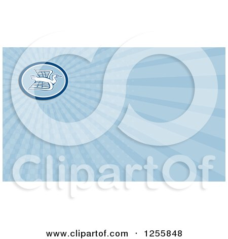 Clipart of a Crane Business Card Design - Royalty Free Illustration by patrimonio