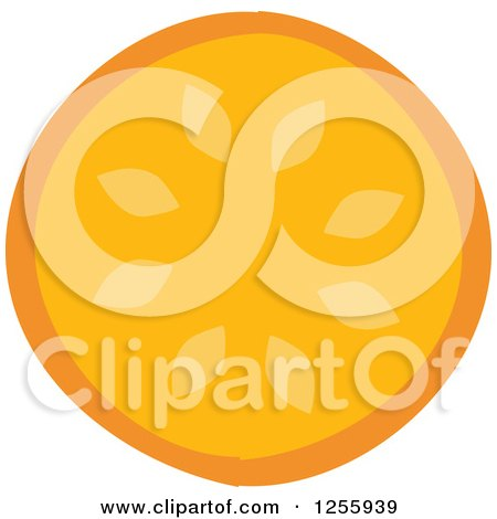 Clipart of a Tropical Orange Fruit - Royalty Free Vector Illustration by Amanda Kate