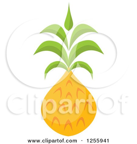 Clipart of a Tropical Pineapple Fruit - Royalty Free Vector Illustration by Amanda Kate
