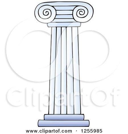 Clipart of a Greek Pillar Column - Royalty Free Vector Illustration by visekart