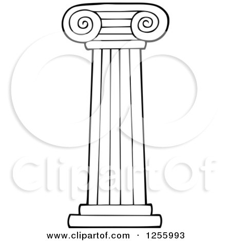 Clipart Of An Ancient Greek Structure With Columns Royalty Free Vector Illustration By