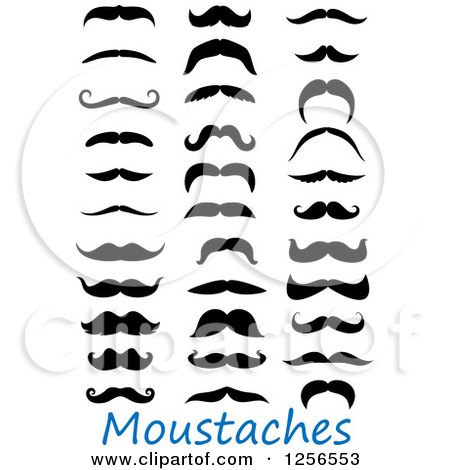 Clipart of Moustaches - Royalty Free Vector Illustration by Vector Tradition SM