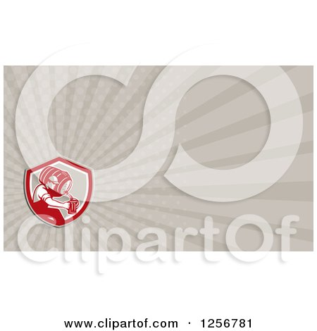 Clipart of a Business Card Design - Royalty Free Illustration by patrimonio